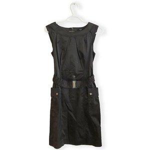 Jacob Sleeveless Dark Brown Dress with Belt - XS